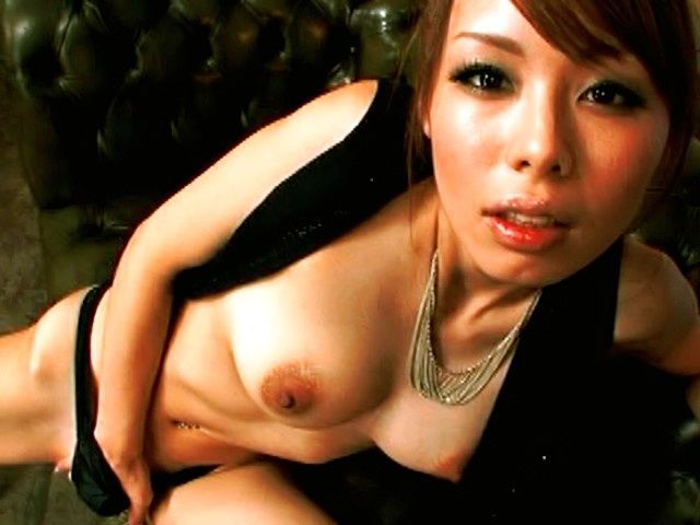Eri Ouka Naughty Asian model masturbates and slurps dick