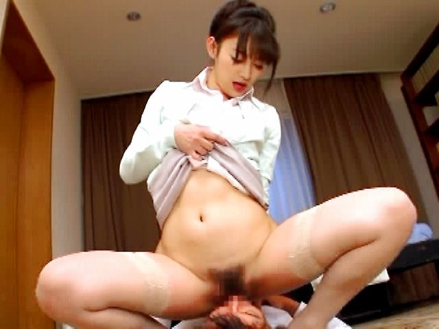 Shou Nishino riding cock like wild!