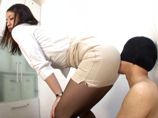 Hot milf gets naughty at the office for teasing