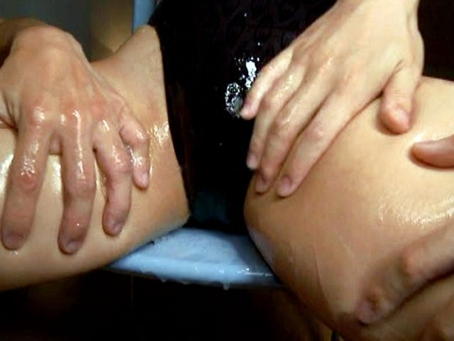 Japanese AV model shows off wet pussy