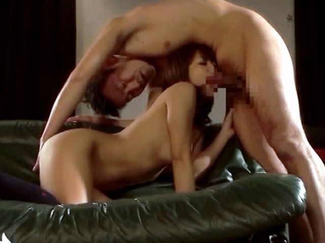 Stunning Asian babe gives hot blowjob