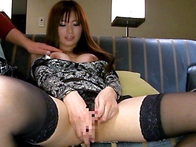 Busty Saki Ayano masturbation and pussy licking