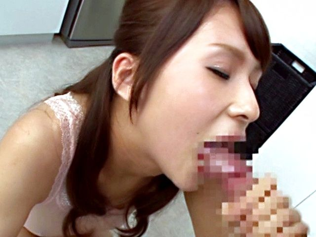 Yui Ooba Asian babe gives sensual blowjob