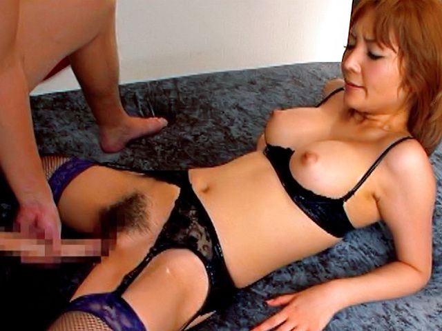 Kinky babe Riona Suzune can take Godzilla's cock without any problem.