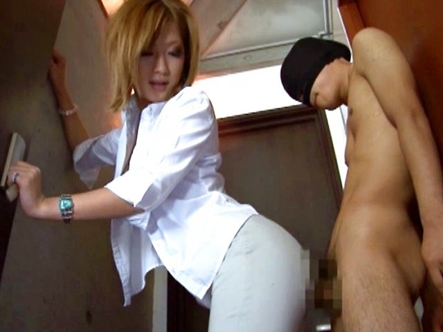Big booty and sexy ass Aika getting her booty sniffed and fondled