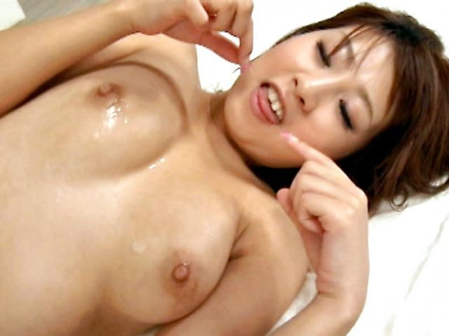 Firm tits babe Hitomi Kitagawa sucking a hard and meaty cock and get screwed