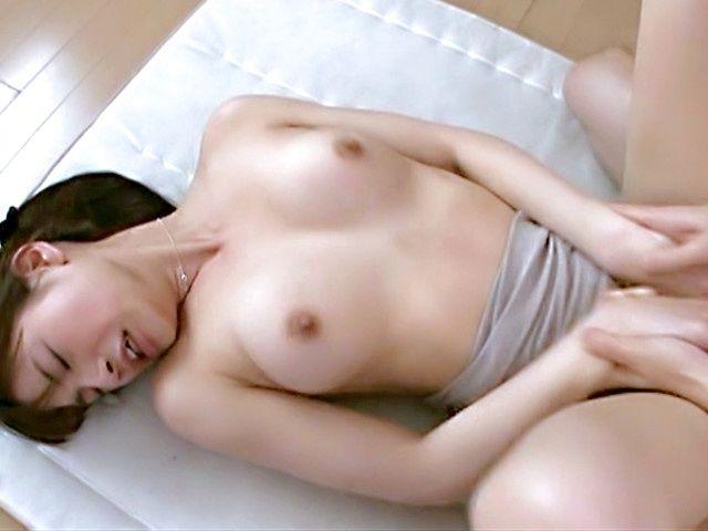 Busty Ai Nakaidou receives warm jizz to the face