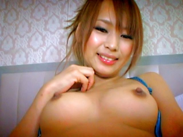 Big Titted MILF Akina Rubs Her Big Boobs And Pussy