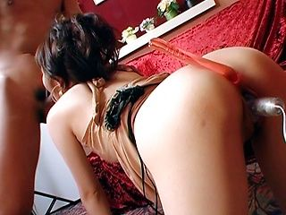 Miku Tanaka Asian model enjoys anal sex toys