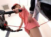 Workout Girl Maho Uruya Gets Stretched At The Gym