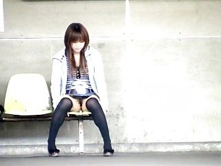 Yuzuki Hatano nice teen in a short skirt is an exhibitionist