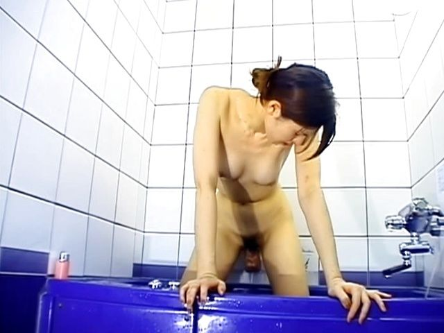 Shower Sex For One As Ann Kuraki Fucks With A Dildo