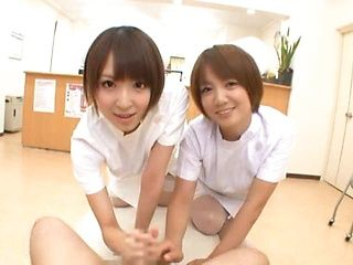 Japanese Av model is a sexy Asian nurse with big tits
