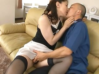 Marina Matsumoto hot mature Asian babe fucks older guy
