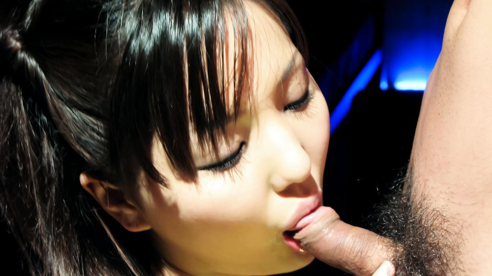 Rio Nakumara In Stockings Bends Down To Suck Dick