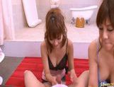 Kirara Asuka And Another Girl In A Bathroom Threesome picture 12
