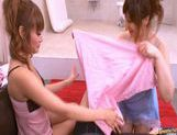 Kirara Asuka And Another Girl In A Bathroom Threesome picture 7