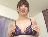 Awesome Japanese stunner Yui Hatano shows off her tough masturation picture 11