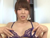 Awesome Japanese stunner Yui Hatano shows off her tough masturation picture 15