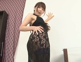 Awesome Japanese stunner Yui Hatano shows off her tough masturation