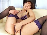 Awesome Japanese stunner Yui Hatano shows off her tough masturationfucking asian, japanese pussy}