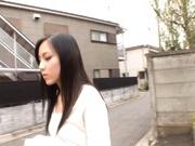 Horny babe Ren Azumi fucks horny studs