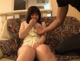Hina Komatsu fondling her juicy snatch with a vibrator picture 11