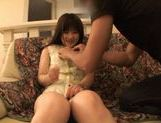 Hina Komatsu fondling her juicy snatch with a vibrator picture 12