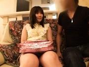 Hina Komatsu fondling her juicy snatch with a vibrator