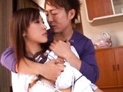 Perky MILF Maho Uruya Begs Him For A Hard Fucking