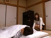Skilled Yuma Asami Sucks And Strokes Him To Orgasm