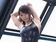 Alice Miyuki fuck in her swimsuit!