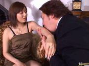 Chunky babe with huge boobs Yama Asami fucks after hot foreplay