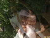 Yuri Haruki gets down and dirty outdoors! picture 15