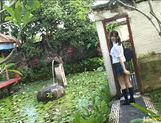 Yuri Haruki gets down and dirty outdoors! picture 2
