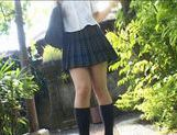 Yuri Haruki gets down and dirty outdoors! picture 3