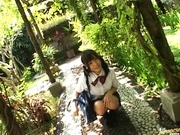 Yuri Haruki gets down and dirty outdoors!
