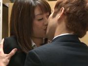 Young Maki Kouta enjoys true sex at work