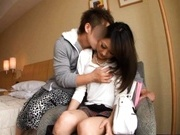 Yurie Shonahara gets her pussy fingered and fucked by a horny dude.