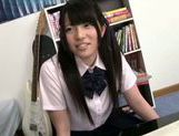 Sweet Asian girl Ai Uehara in school uniform adores hardcore picture 2
