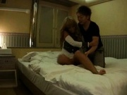Japanese AV model gets a hard fucking