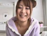 Nasty porn star Hitomi Kitagawa showing off her goodies and hard fucked picture 13