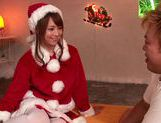 Girl Santa Akiho Yoshizawa has a special banging present for this guy picture 13