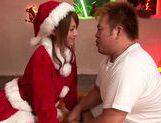 Girl Santa Akiho Yoshizawa has a special banging present for this guy picture 14