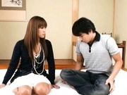 Japanese AV model enjoys getting a hard fucking