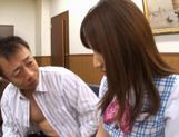 Japanese schoolgirl is a hot teen who likes hard sex