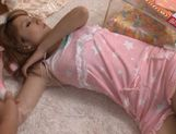 Reon Otowa Asian doll gets a load of cum on her boobs picture 14