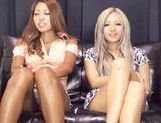 Hot chicks Julia Tachibana and Runa Asahi fuck with toys picture 4
