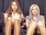 Hot chicks Julia Tachibana and Runa Asahi fuck with toys picture 8