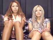 Hot chicks Julia Tachibana and Runa Asahi fuck with toys
